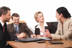 Business meeting graphic (free clip art)