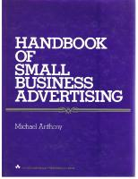 FrontCover: Handbook of Small Business Advertising