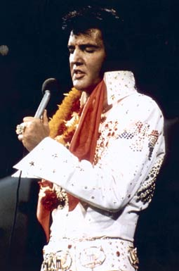 "Elvis Presley 1973 in ""Aloha from Hawaii"" TV special"